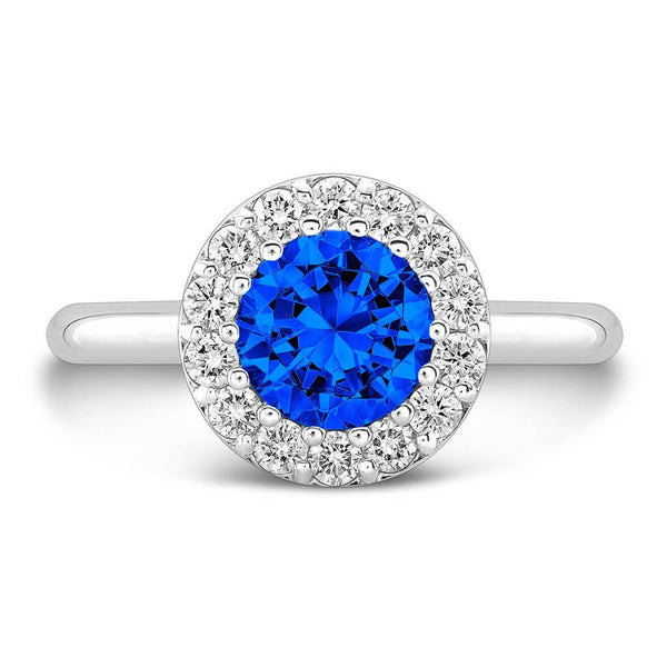 Tall Ultra Merlot® (Blue Sapphire with Diamonds) - Dafina Jewelry - 2