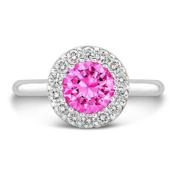 Tall Merlot® (Pink Sapphire with Diamonds) - Dafina Jewelry - 2
