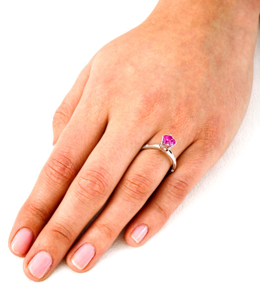 OM (Pink Sapphire with Diamonds) - Dafina Jewelry - 5