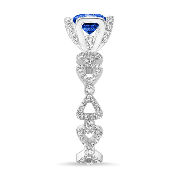 Ribbon II (Blue Sapphire with Diamonds) - Dafina Jewelry - 3
