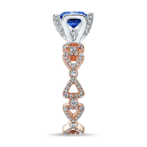 Ribbon II (Blue Sapphire with Diamonds) - Dafina Jewelry - 6