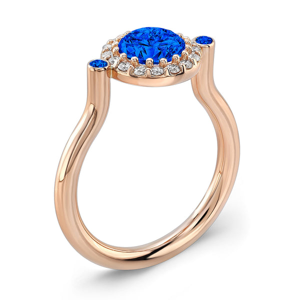 Seul (All Blue Sapphires) - Dafina Jewelry - 3