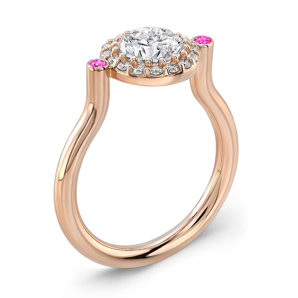 Seul (Diamond with Pink Sapphires) - Dafina Jewelry - 3