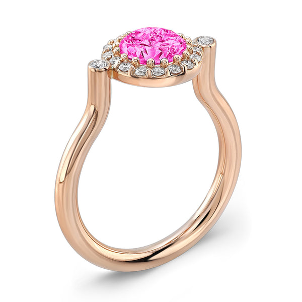 Seul (Pink Sapphire with Diamonds) - Dafina Jewelry - 3