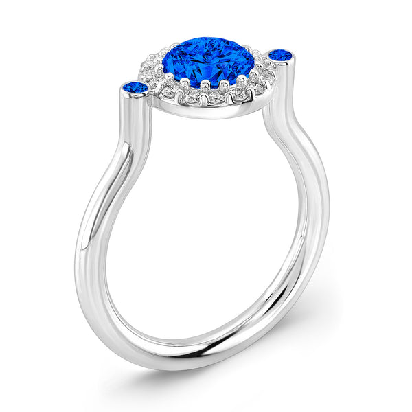 Seul (All Blue Sapphires) - Dafina Jewelry - 1