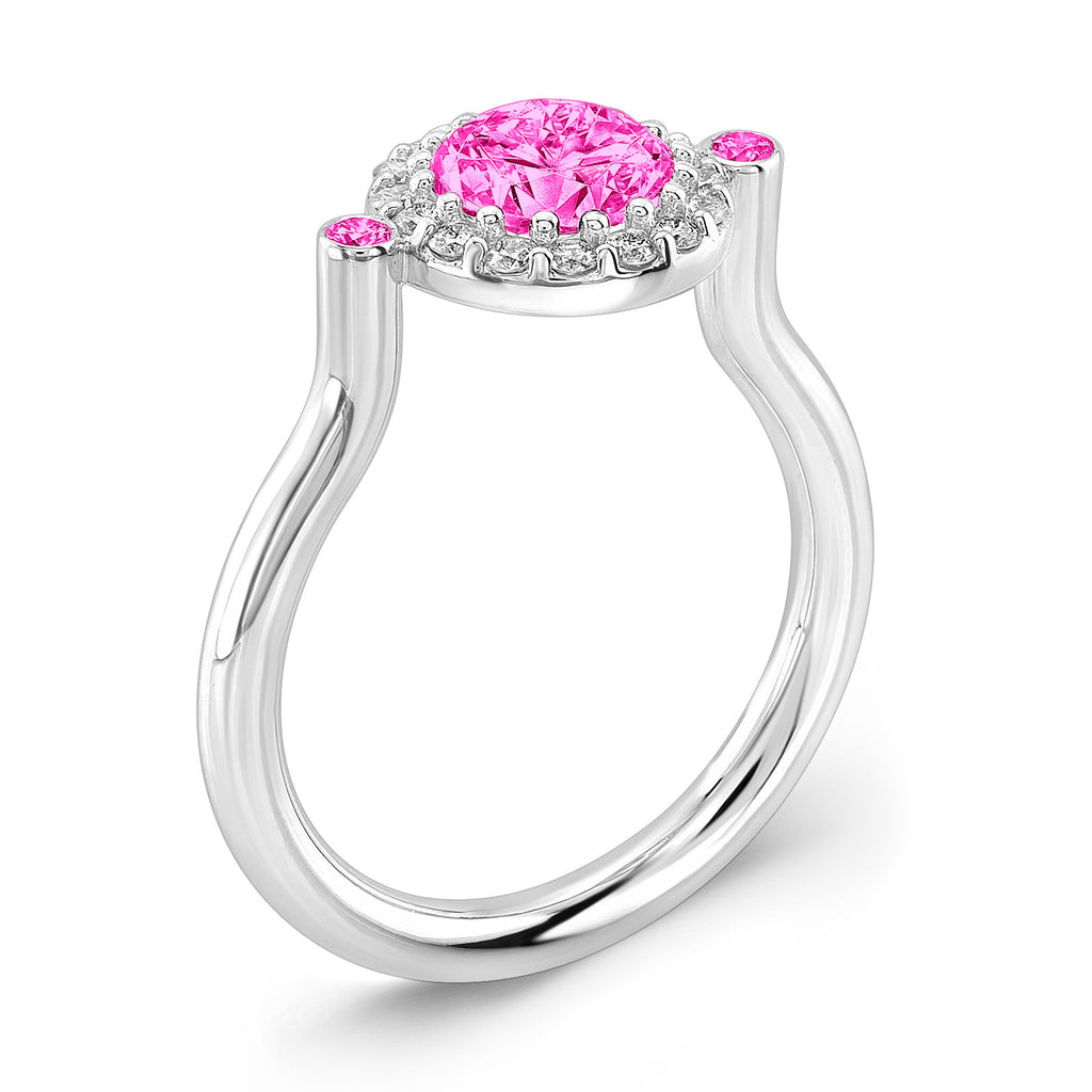 Seul (All Pink Sapphires) - Dafina Jewelry - 1
