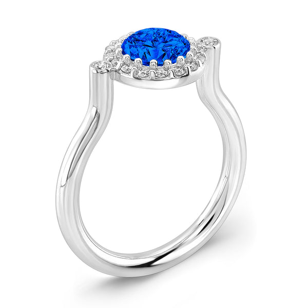 Seul (Blue Sapphire with Diamonds) - Dafina Jewelry - 1