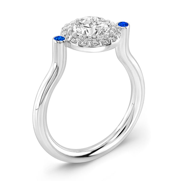 Seul (Diamond with Blue Sapphires) - Dafina Jewelry - 1