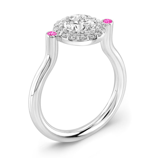 Seul (Diamond with Pink Sapphires) - Dafina Jewelry - 1