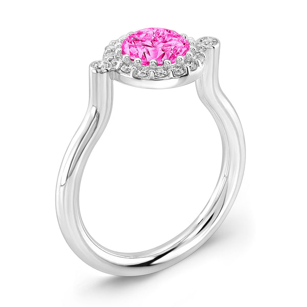 Seul (Pink Sapphire with Diamonds) - Dafina Jewelry - 1