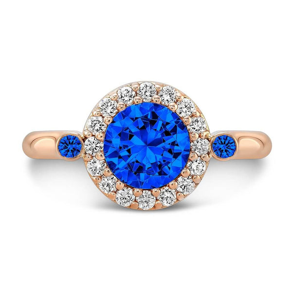 Seul (All Blue Sapphires) - Dafina Jewelry - 4