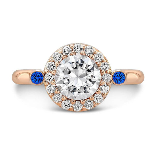 Seul (Diamond with Blue Sapphires) - Dafina Jewelry - 4