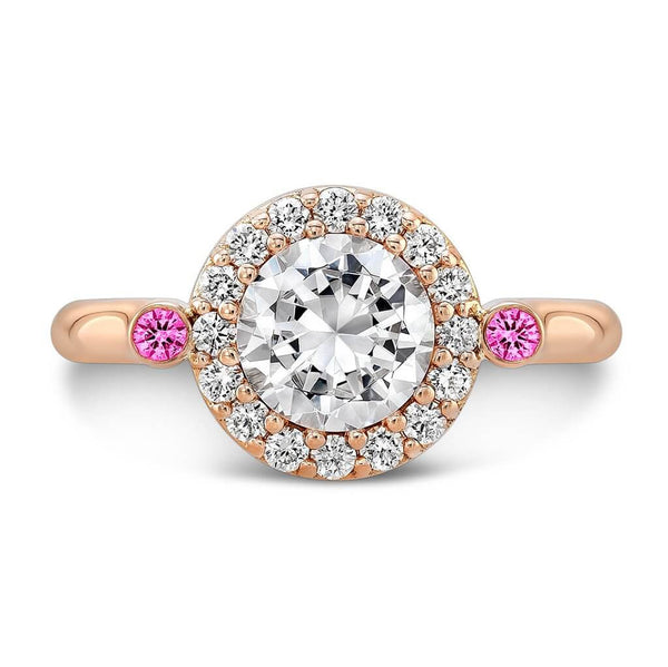 Seul (Diamond with Pink Sapphires) - Dafina Jewelry - 4
