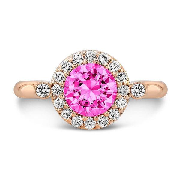 Seul (Pink Sapphire with Diamonds) - Dafina Jewelry - 4