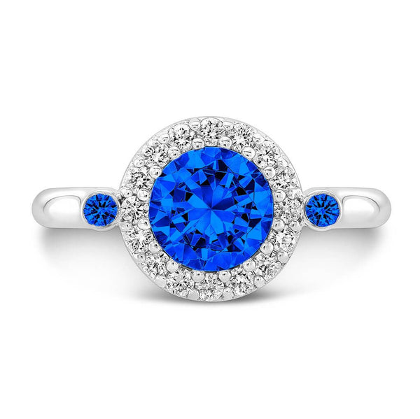 Seul (All Blue Sapphires) - Dafina Jewelry - 2