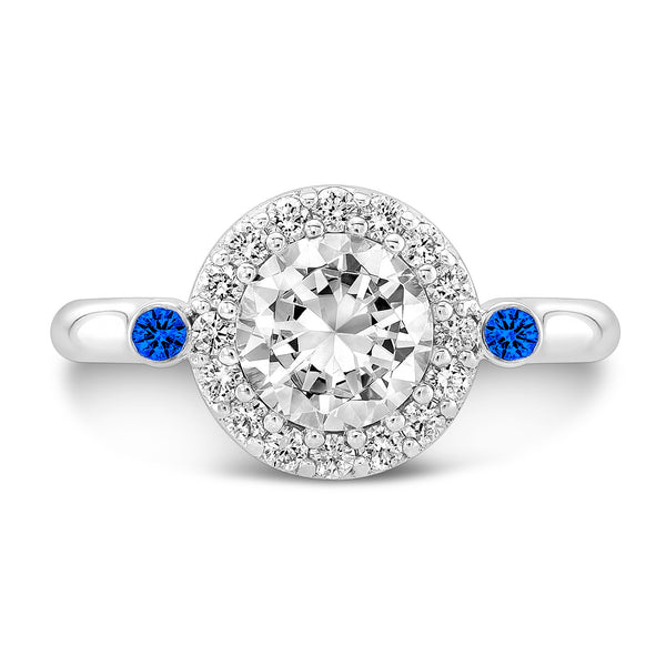 Seul (Diamond with Blue Sapphires) - Dafina Jewelry - 2