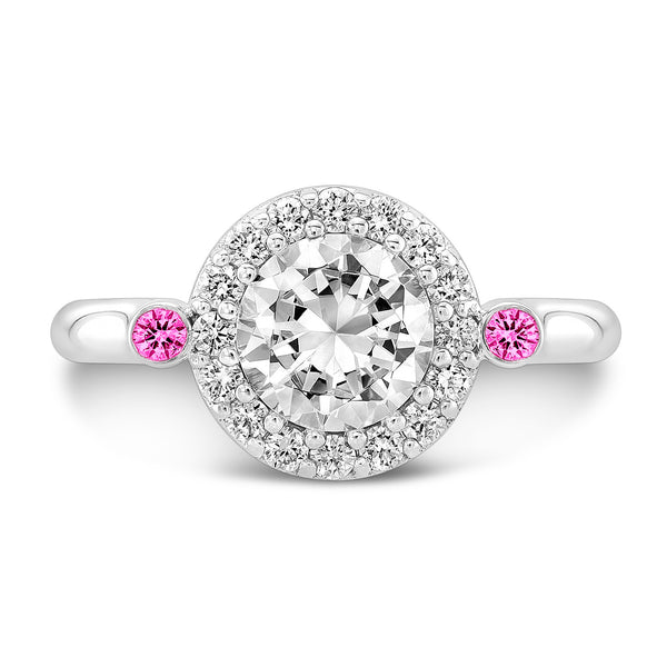 Seul (Diamond with Pink Sapphires) - Dafina Jewelry - 2
