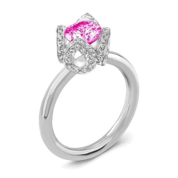 Tiara I (Pink Sapphire with Diamonds) - Dafina Jewelry - 1