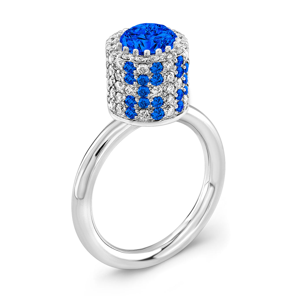 Tall Ultra Brilliant (All Blue Sapphires) - Dafina Jewelry - 1