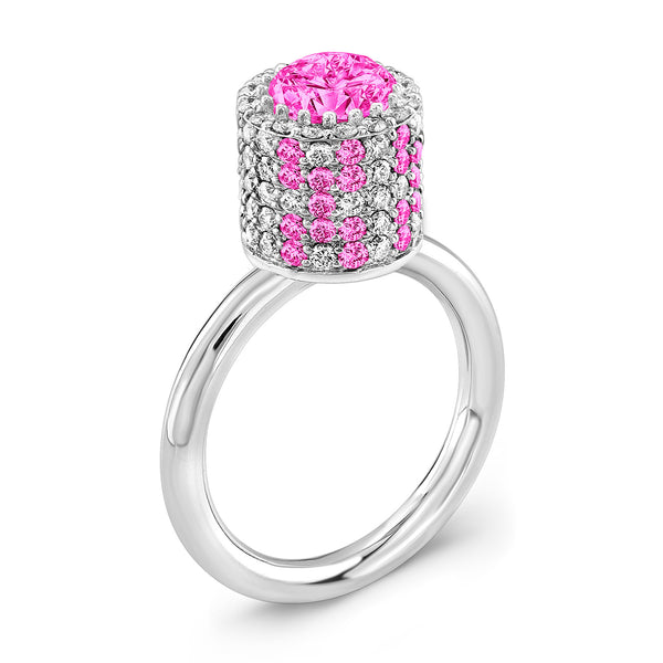 Tall Ultra Brilliant (All Pink Sapphires) - Dafina Jewelry - 1