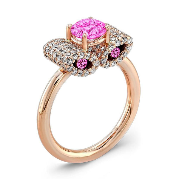 Ultra Light Trap (All Pink Sapphires) - Dafina Jewelry - 3