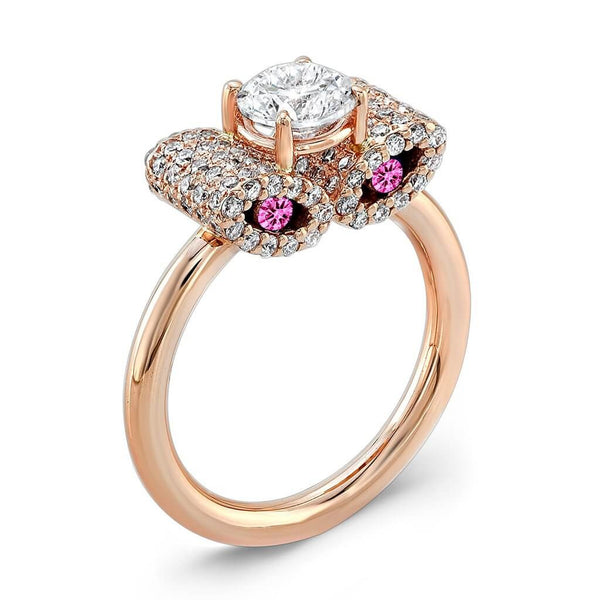Ultra Light Trap (Diamond with Pink Sapphires) - Dafina Jewelry - 3