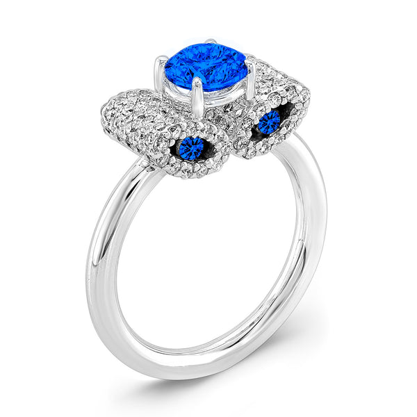 Ultra Light Trap (All Blue Sapphires) - Dafina Jewelry - 1