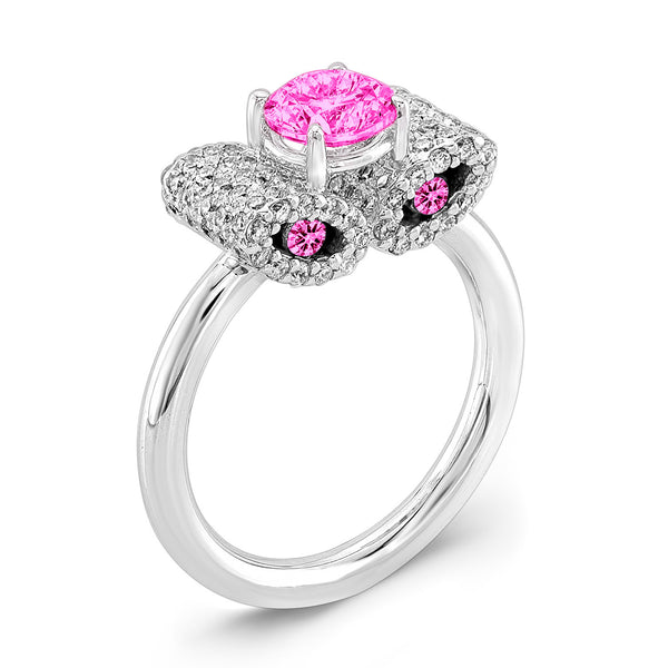 Ultra Light Trap (All Pink Sapphires) - Dafina Jewelry - 1