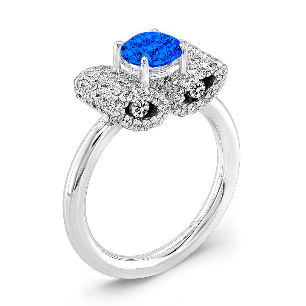 Ultra Light Trap (Blue Sapphire with Diamonds) - Dafina Jewelry - 1