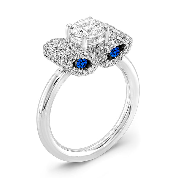 Ultra Light Trap (Diamond with Blue Sapphires) - Dafina Jewelry - 1
