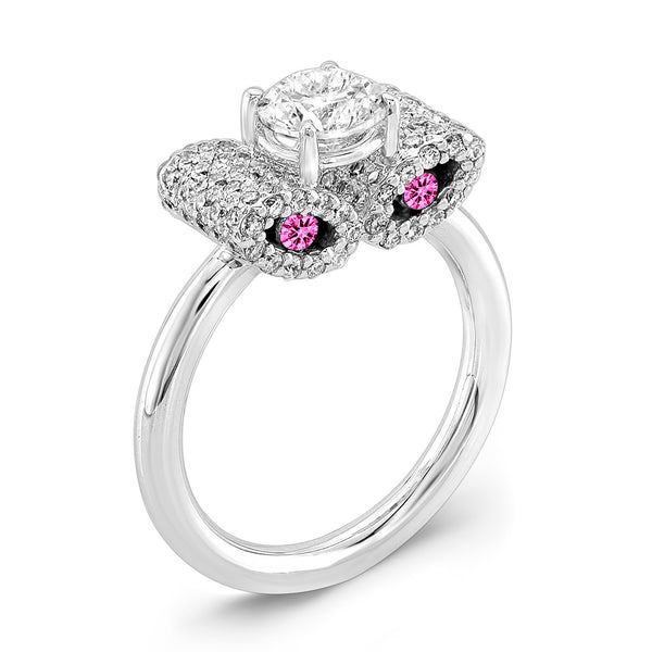 Ultra Light Trap (Diamond with Pink Sapphires) - Dafina Jewelry - 1
