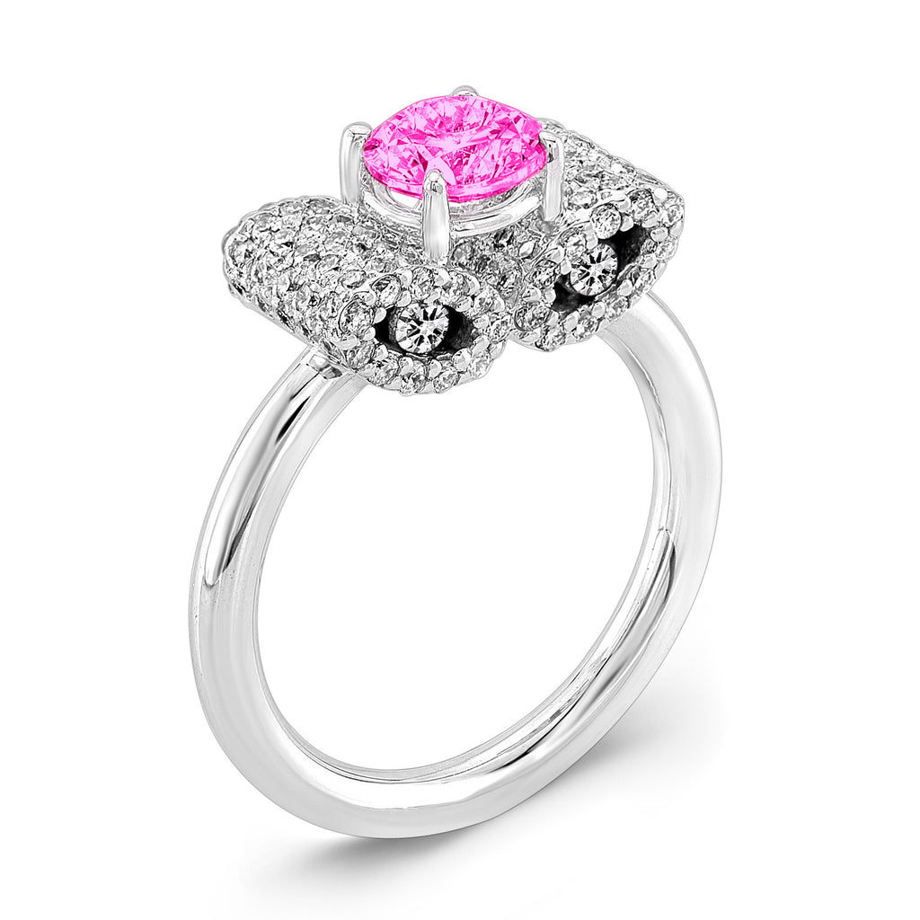 Ultra Light Trap (Pink Sapphire with Diamonds) - Dafina Jewelry - 1