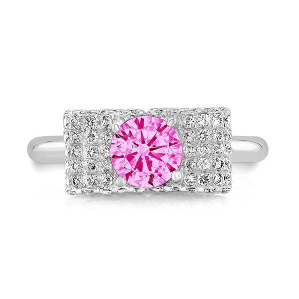 Ultra Light Trap (All Pink Sapphires) - Dafina Jewelry - 2
