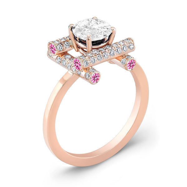 Ultra Love Fire (Diamond with Pink Sapphires) - Dafina Jewelry - 3