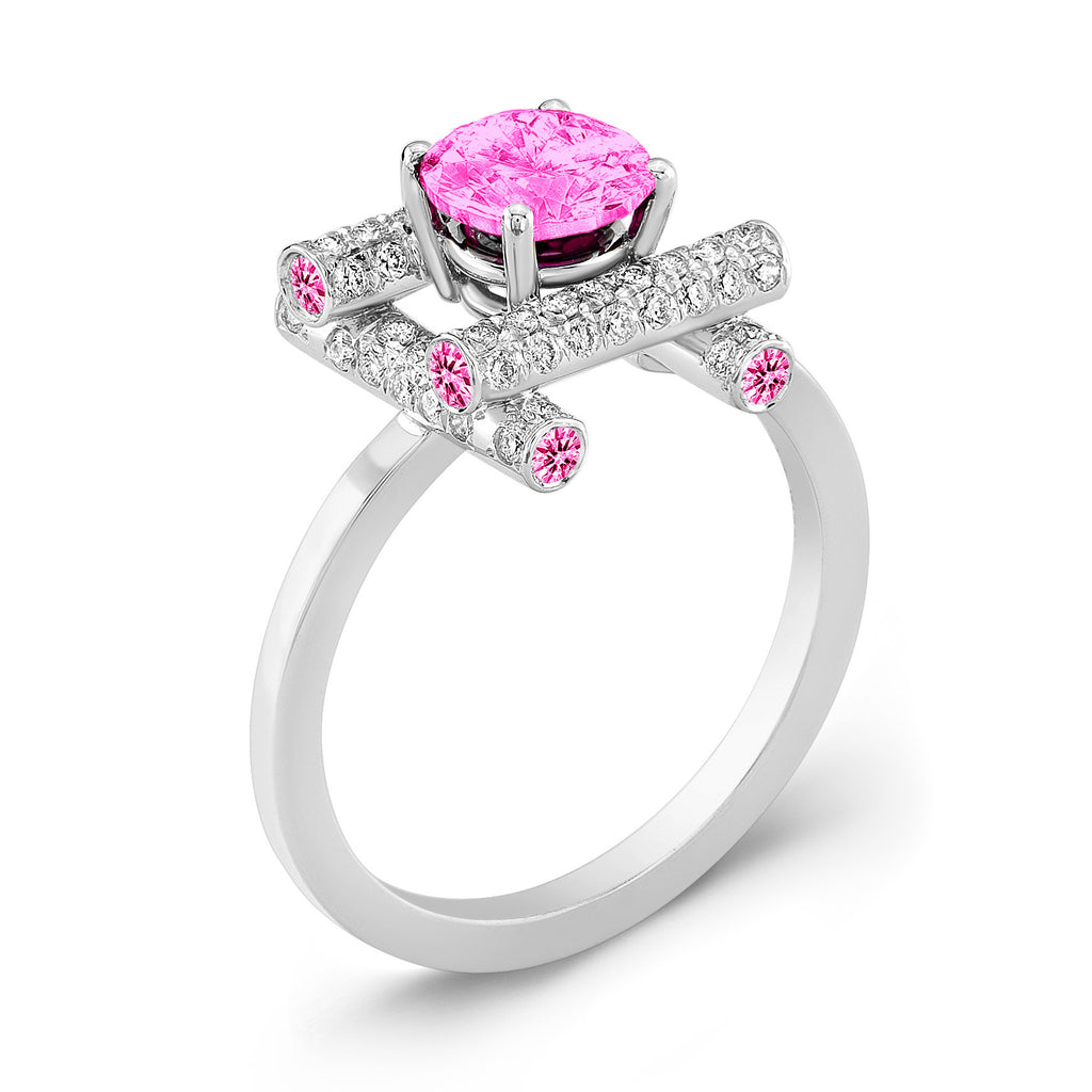Ultra Love Fire (All Pink Sapphires) - Dafina Jewelry - 1