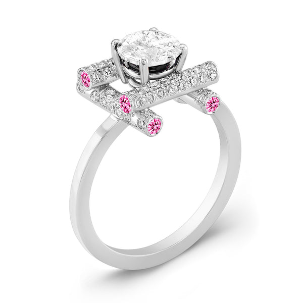 Ultra Love Fire (Diamond with Pink Sapphires) - Dafina Jewelry - 1