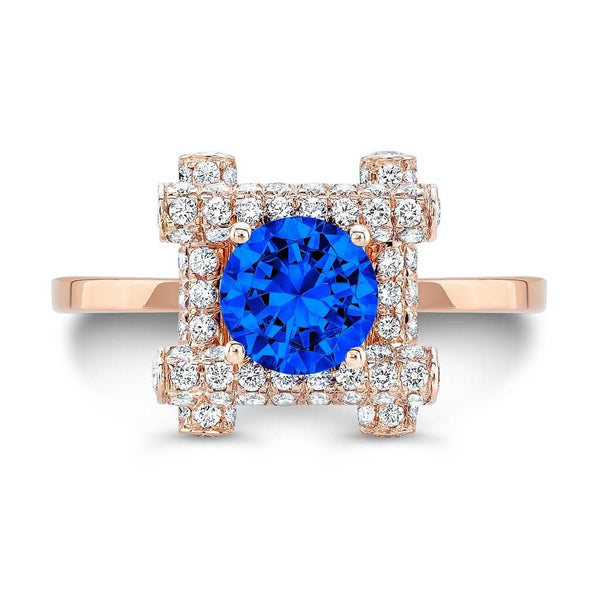 Ultra Love Fire (All Blue Sapphires) - Dafina Jewelry - 4