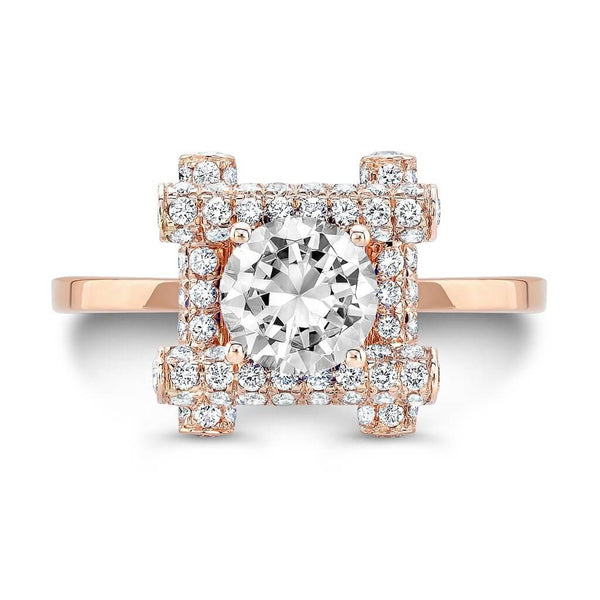 Ultra Love Fire (Diamond with Pink Sapphires) - Dafina Jewelry - 4