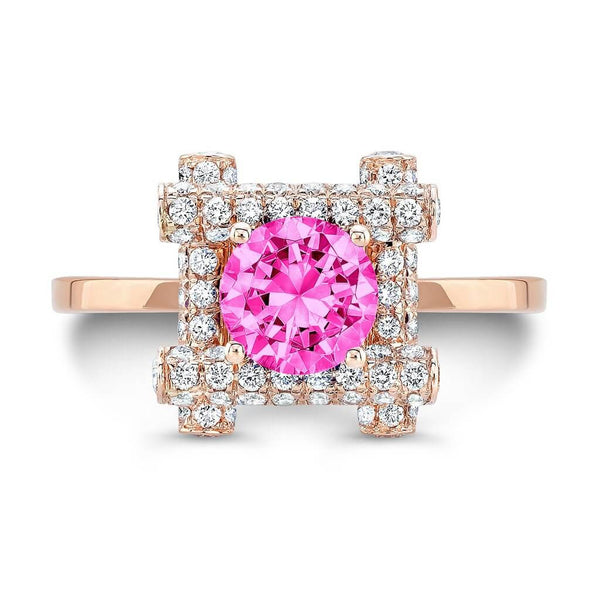 Ultra Love Fire (All Pink Sapphires) - Dafina Jewelry - 4