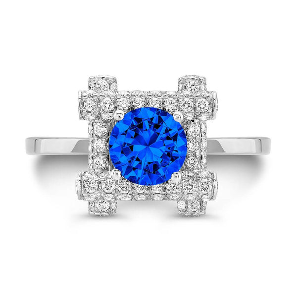 Ultra Love Fire (All Blue Sapphires) - Dafina Jewelry - 2
