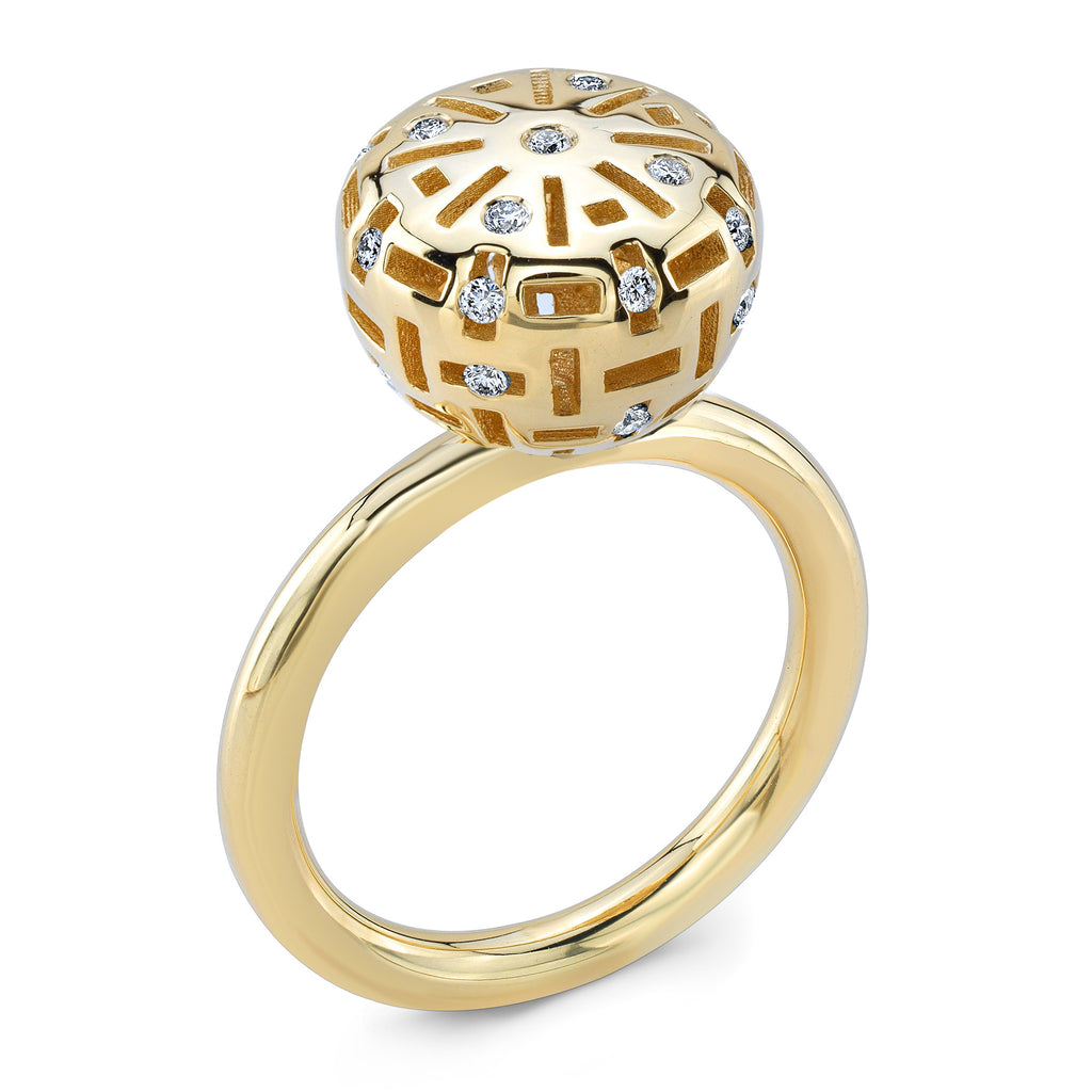 Round Allure Candy (14K Gold with Diamonds) - Dafina Jewelry - 1