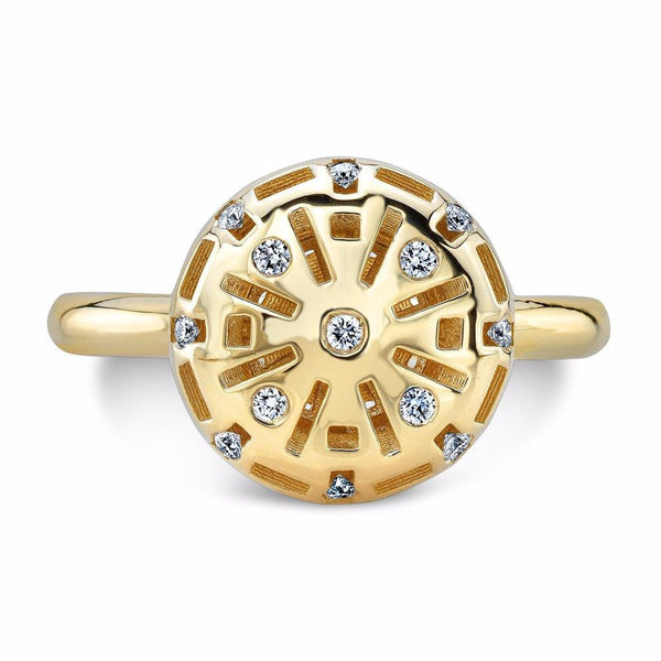 Round Allure Candy (14K Gold with Diamonds) - Dafina Jewelry - 2