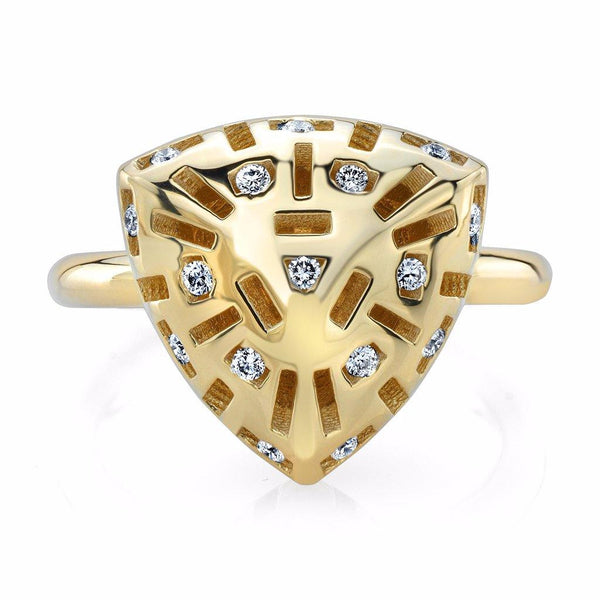 Triangle Allure Candy (14K Gold with Diamonds) - Dafina Jewelry - 2