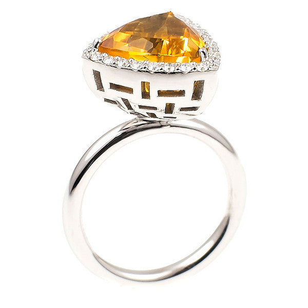 Citrine Allure (14K Gold with Diamonds and Citrine) - Dafina Jewelry