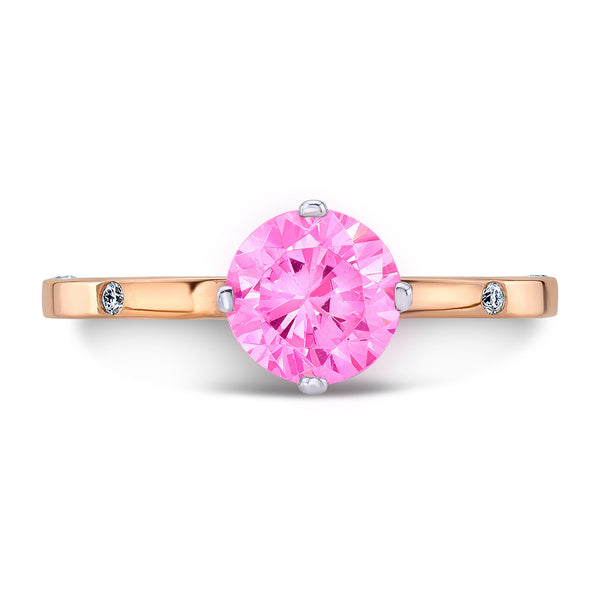 OM (Pink Sapphire with Diamonds) - Dafina Jewelry - 4