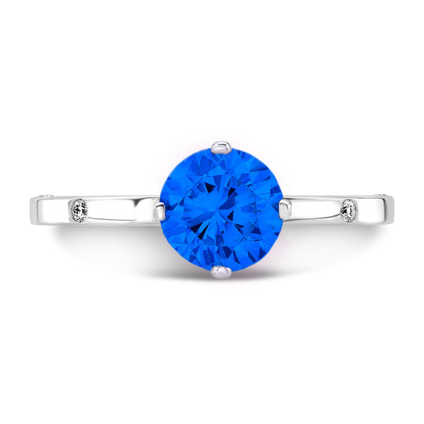 OM (Blue Sapphire with Diamonds) - Dafina Jewelry - 2
