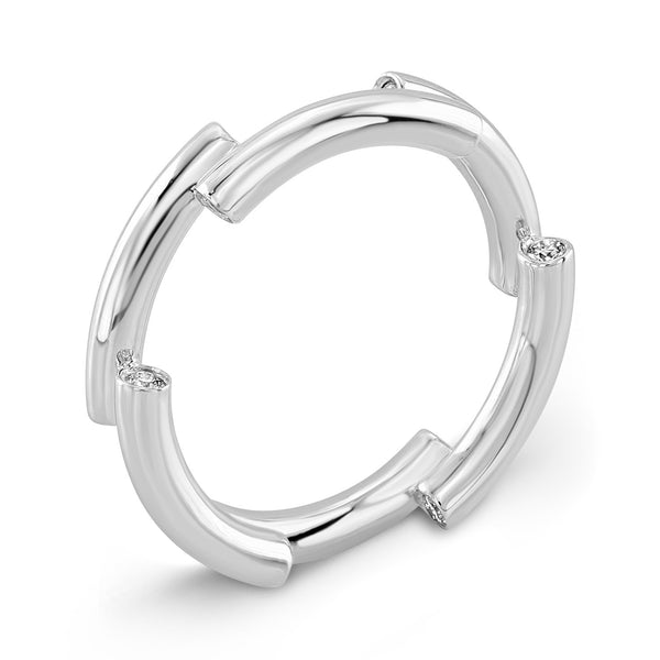Dafina Band for Her (White Gold) - Dafina Jewelry - 1