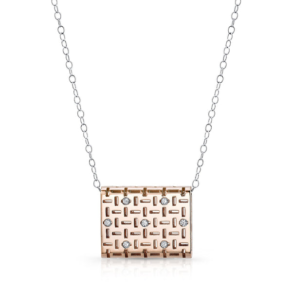 Allure Caramel Pendant (14K Gold with Diamonds) - Dafina Jewelry