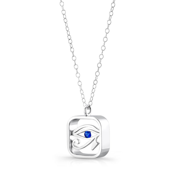 Eye of Horus (Sterling silver with Blue Sapphire) - Dafina Jewelry - 2