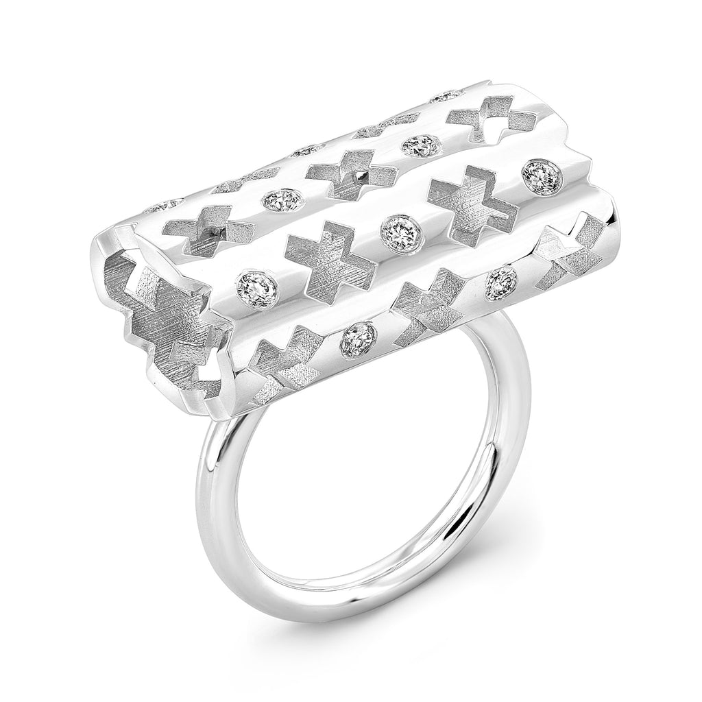 Majesty Ring (14K Gold with Diamonds) - Dafina Jewelry - 1